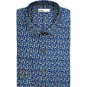 Bar III Slim Fit Stretch Button-Down Floral Shirt